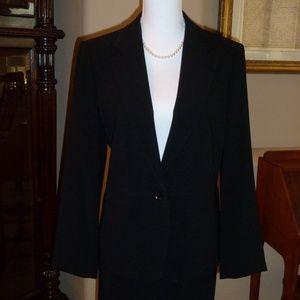 Blazer Style Jacket EUC Black Single Button sz 12P